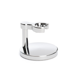 Stand for classic safety razor from MÜHLE, chrome-plated