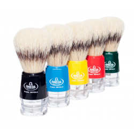 Omega 10218 - 100% Boar Bristle Shaving Brush