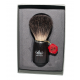 Omega 6712 brush (dark ash wood handle), Pure Badger, in gift box