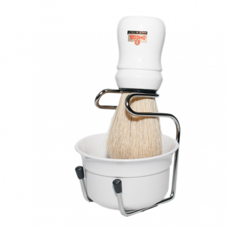 Omega Brush, Stand and Bowl Set