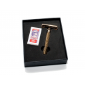 Giesen & Forsthoff Butterfly Razor, gold plated, handle lenght 80 mm (gift box)