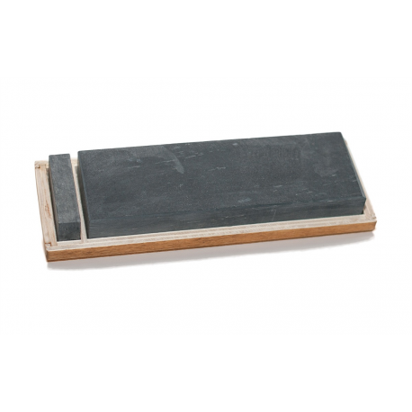 The Genuine Water Hone [150 x 50 x 20 mm] with slurry stone, wooden case