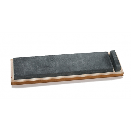 The Genuine Water Hone [250 x 75 x 20 mm] with slurry stone, wooden case
