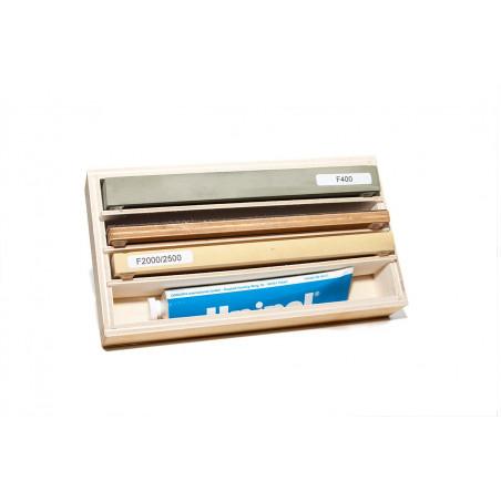 Sharpening Stone Set 200 for razors with non-slip base