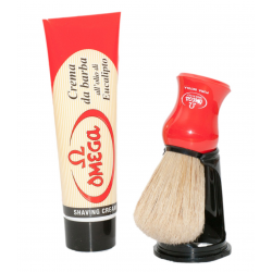 OMEGA Shaving cream in tube 100ml with Brush and Stand