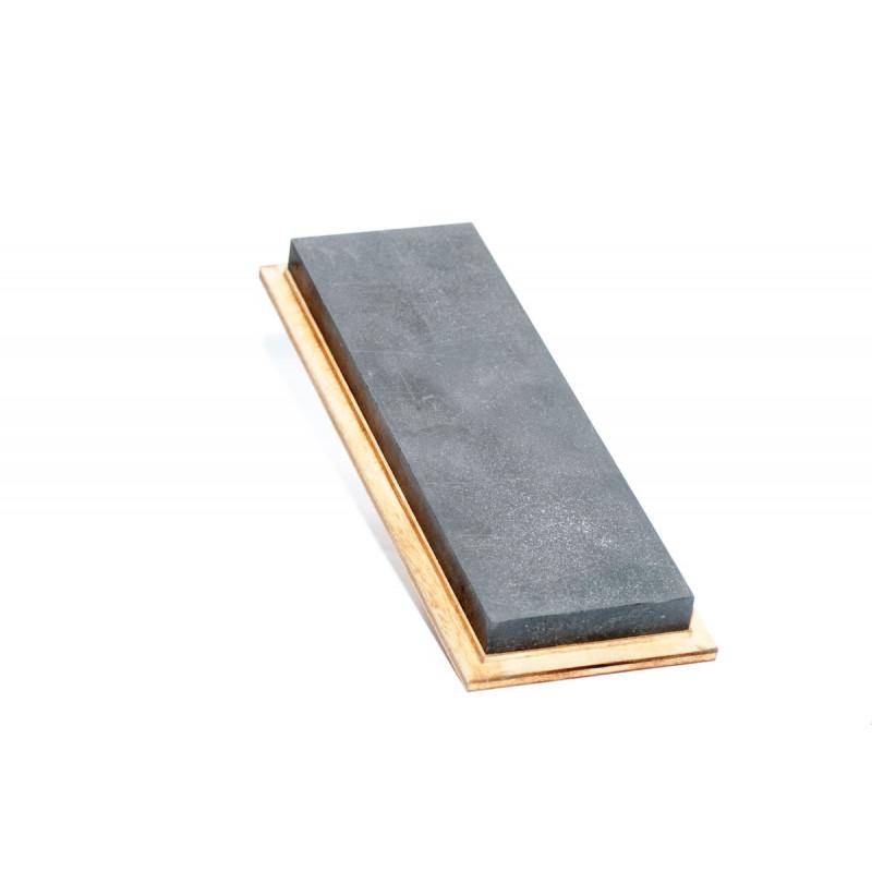 Black Arkansit Stone, 205 x 66 x 13 mm in wooden case