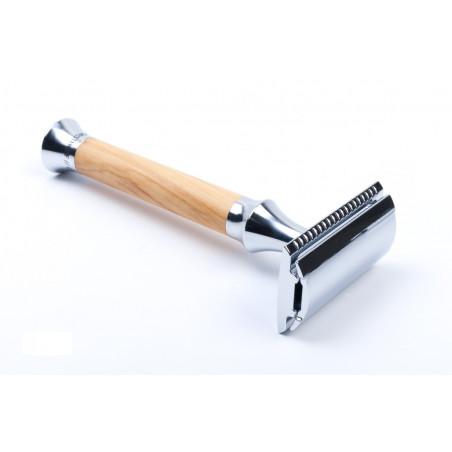 Timor Safety Razor olive wood handle 100 mm, closed comb, including 10 Timor® razor blades