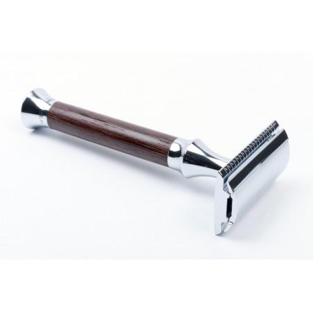 Timor Safety Razor venge wood handle 100 mm, closed comb, including 10 Timor® razor blades