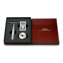 Luxury Feather Safety Razor with stand - gift box (AS-D2S)