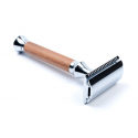 Timor Safety Razor walnut wood handle 100 mm, closed comb, including 10 Timor® razor blades