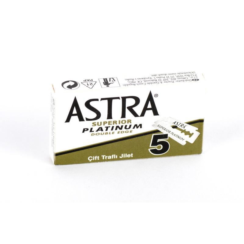 Astra Superior Platinum Double Edge Razor Blades - 5pcs