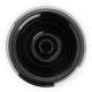 MÜHLE-parranajokulho, mustaa posliinia, platinareunus