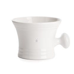 Shaving crucible from MÜHLE, porcelain white