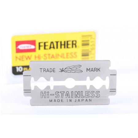 FEATHER - kaksipuoleiset, platinoidut partaterät - 10 kpl