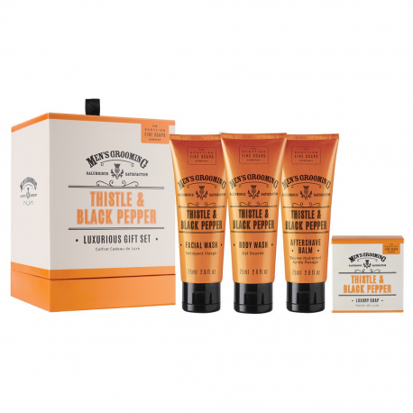 The Scottish Fine Soaps Company Men's Grooming Luxurious Gift Set