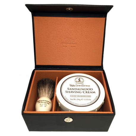 Taylor of Old Bond Street Sandalwood & Pure Badger Luxury Gift Box