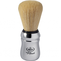 Omega S10108 S-Brush Synthetic Boar Shaving Brush - chromed handle