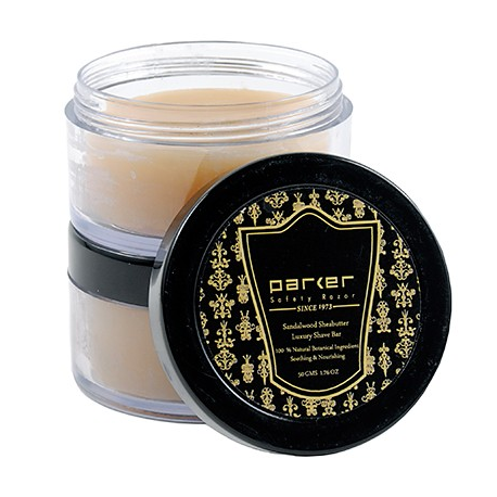 Parker Premium Sandalwood & Shea Butter Shaving Soap in Jar (50 g)